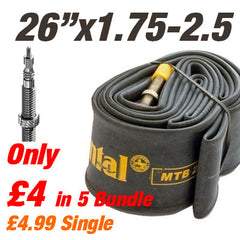 "Continental MTB 26x1.75-2.5"" 42mm Presta Valve Inner Tube - From £4"