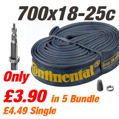 Continental Road 700x18-25c 42mm Valve Inner Tube - From £3.90