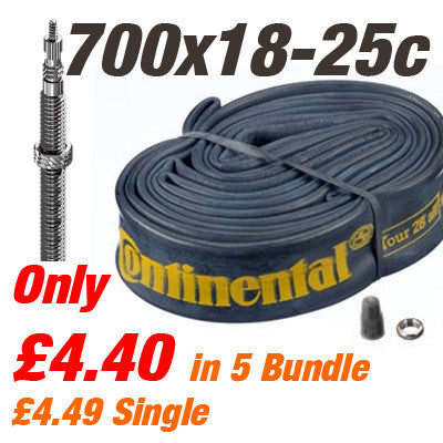 Continental Long 62mm Valve 700x18-25c 62mm Valve Inner Tube - From £4.40