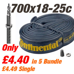 "Continental Race 28 700x18-25c Long Presta 62mm Valve (also 27/28"") Road Bike"