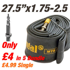 "Continental MTB 27.5x1.75-2.5"" 42mm Presta Valve Inner Tube - From £4"