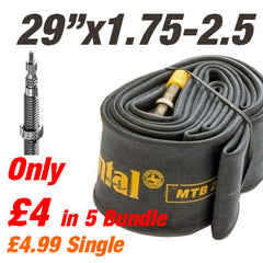"Continental MTB 29x1.75-2.5"" 42mm Valve Inner Tube - From £4"