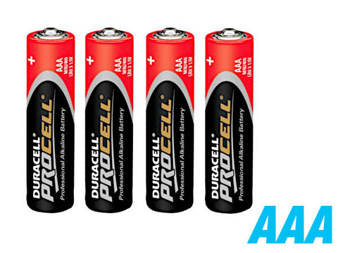 Duracell Procell 4 x AAA Batteries