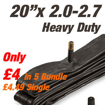 "BMX and Trials Heavy Duty Wide 20"" Inner Tube Car Valve - From £4"