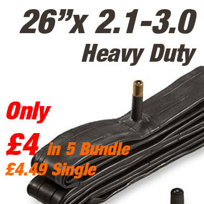 "MTB All Mountain/DH 26"" Wide Heavy Duty Inner Tube Car Valve - From £4"