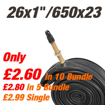 "26"" x 1"" / 650c Inner Tube Presta (also 25x1"") - From £2.80"