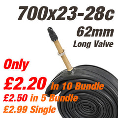 Road Wide 700x23-28c Inner Tube 62mm Long Valve - From £2.30