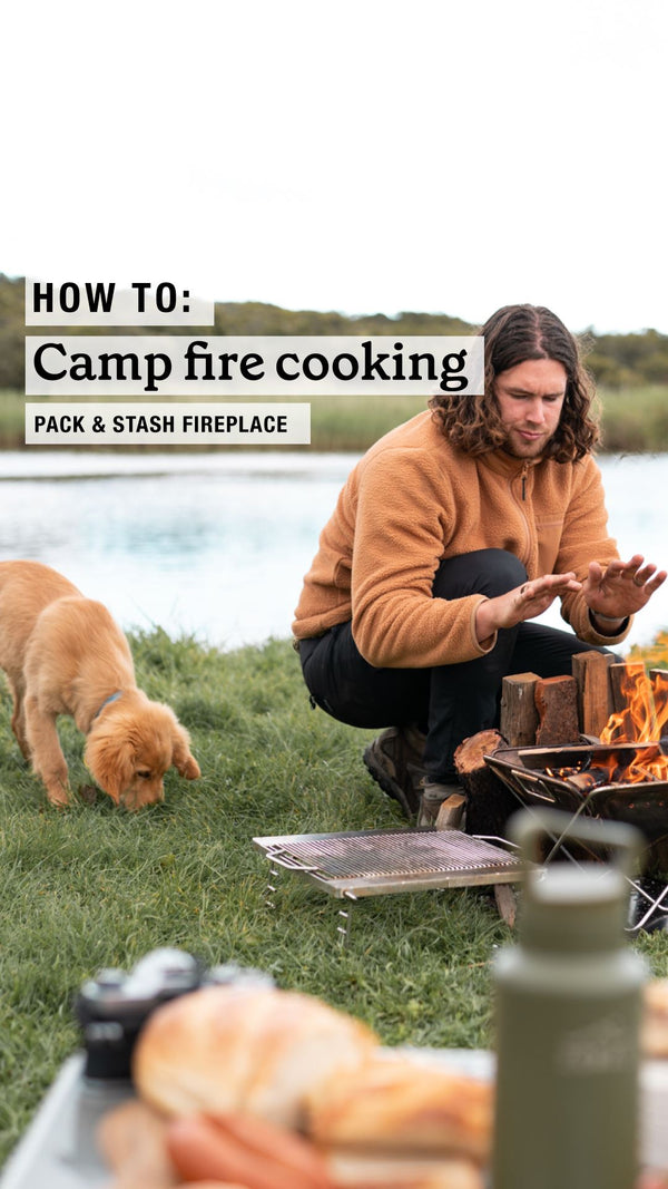 How to: Camp Cooking on our Pack & Stash Fireplace