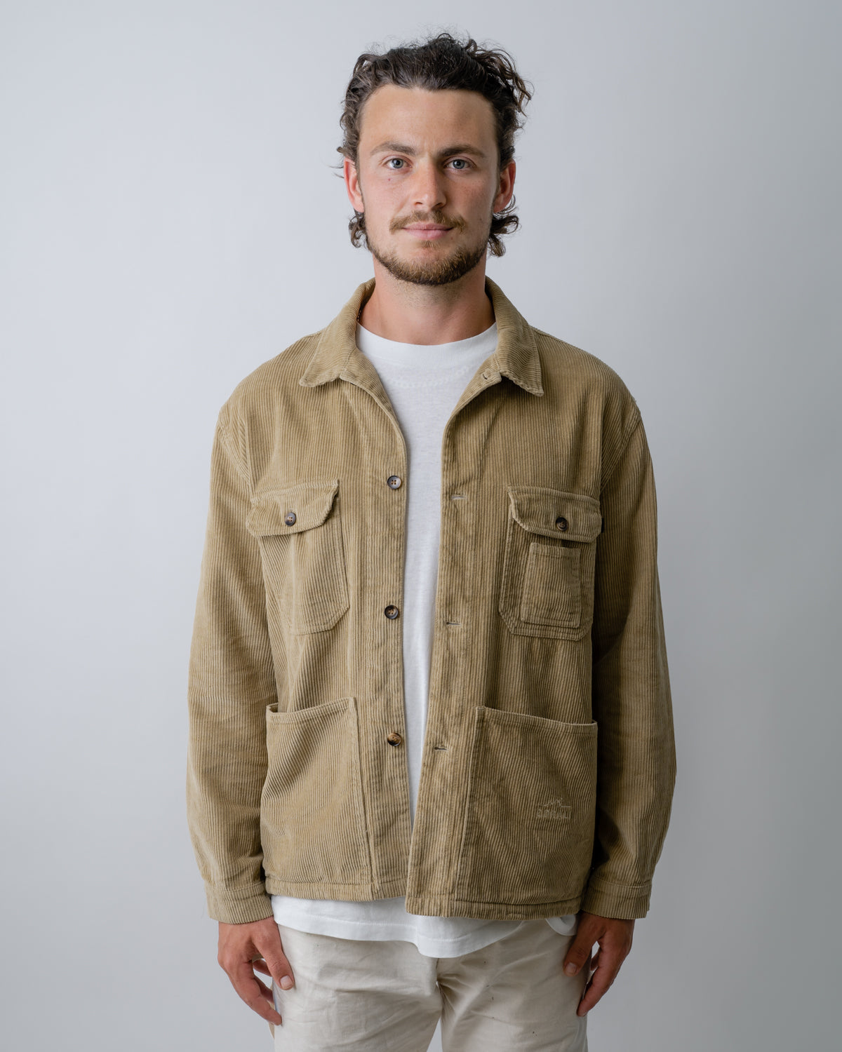 Organic Camp Jacket Taupe