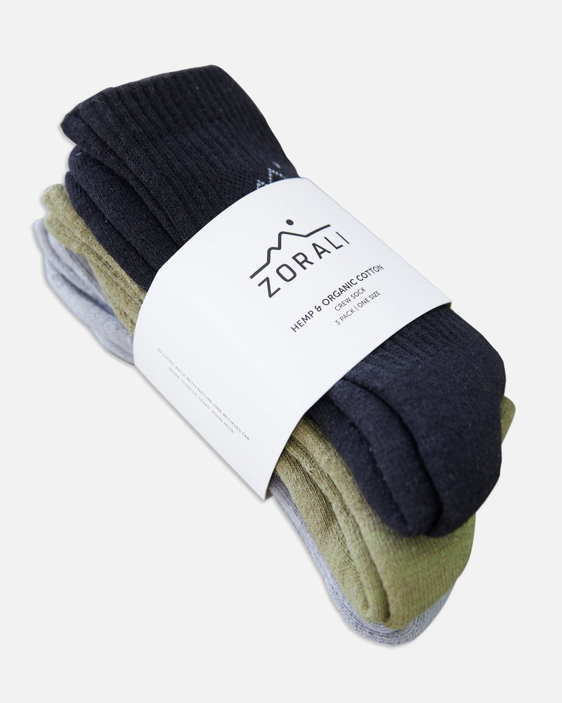 Hemp Everyday Socks 3Pk Socks Zorali