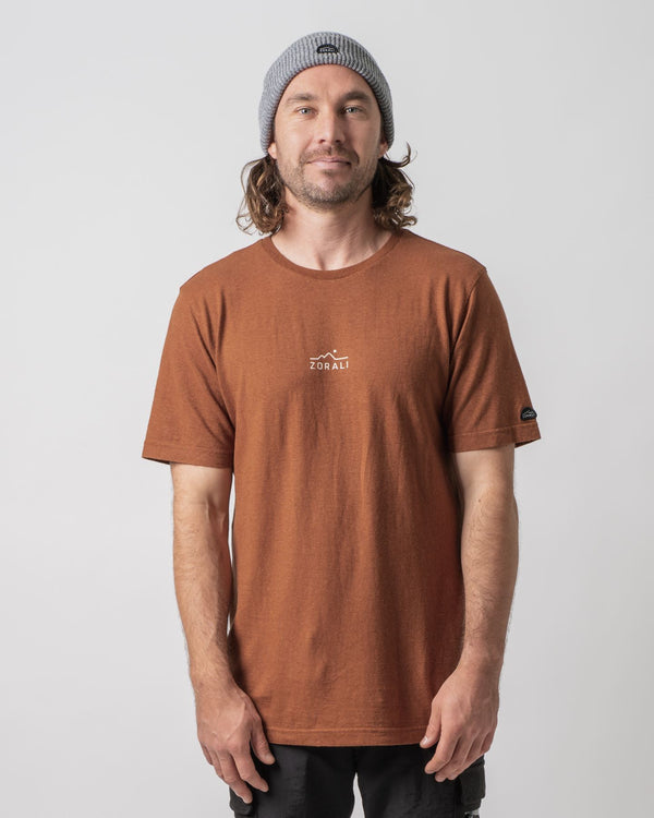 Hemp Logo Tee Desert Brown Tops Zorali