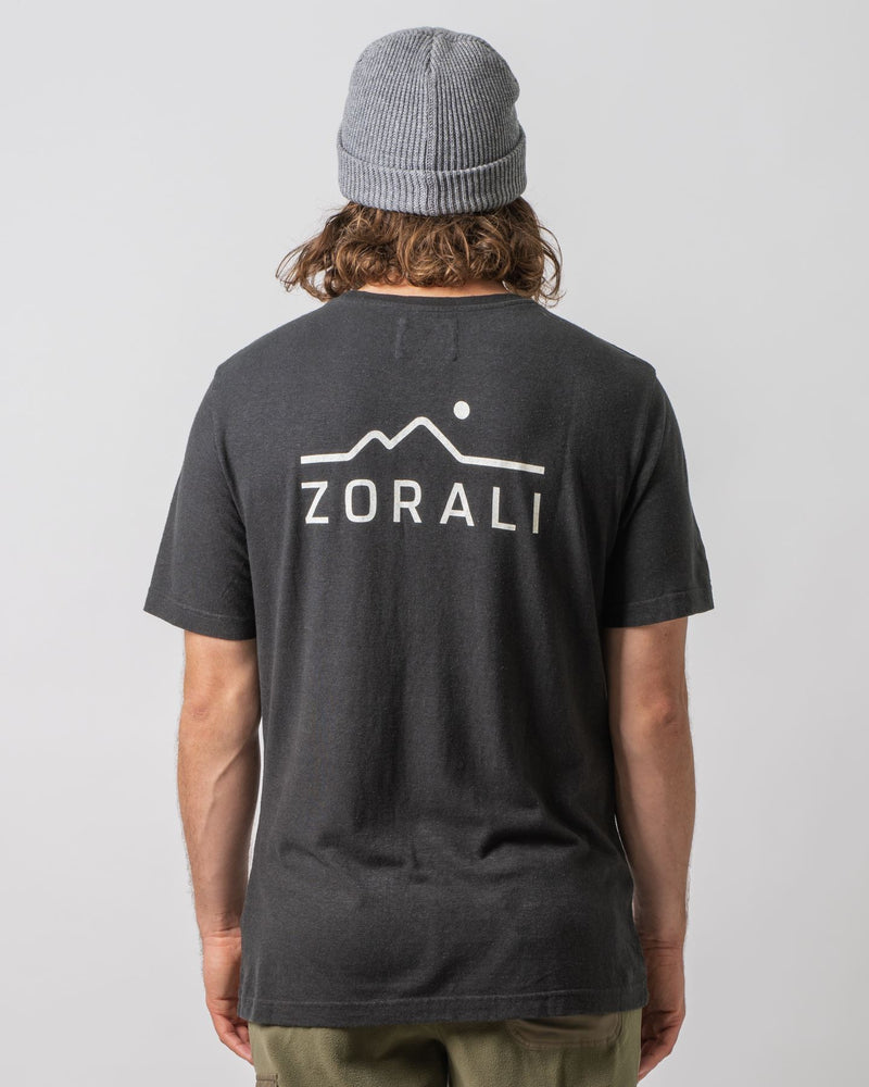 Hemp Logo Tee Midnight Black Tops Zorali
