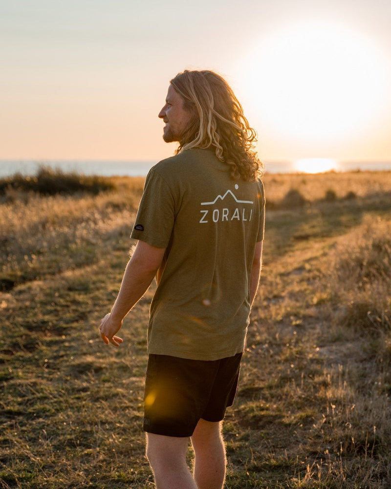 Hemp Logo Tee Mountain Moss Tops Zorali