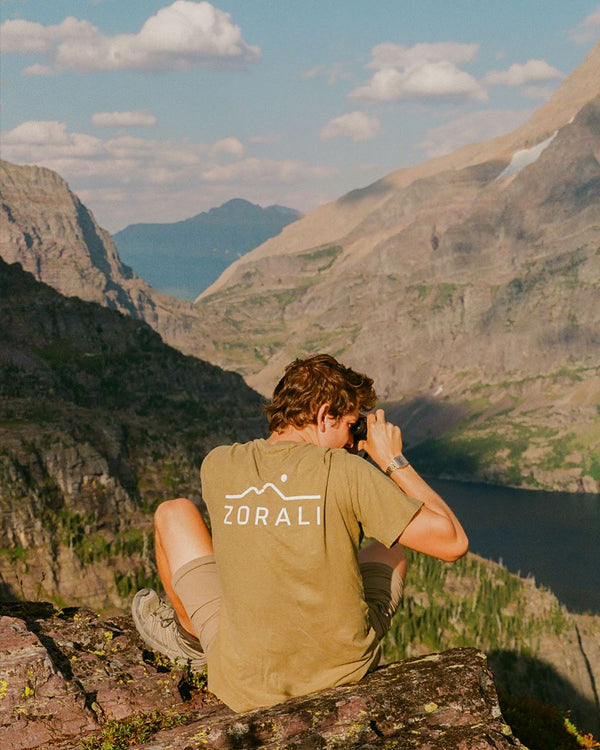 Hemp Logo Tee Mountain Moss Unisex Tops Zorali