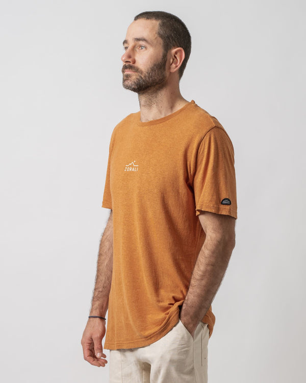 Hemp Logo Tee Sunset Orange Tops Zorali