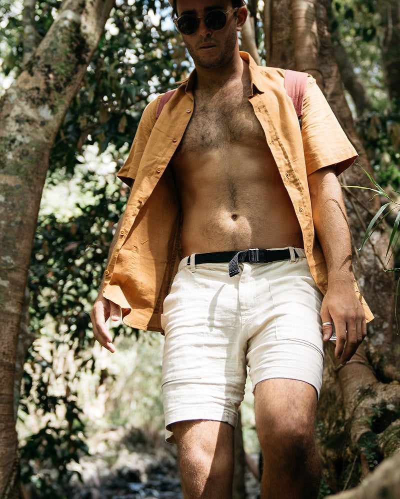Hemp Walk Shorts Birch Bottoms Zorali