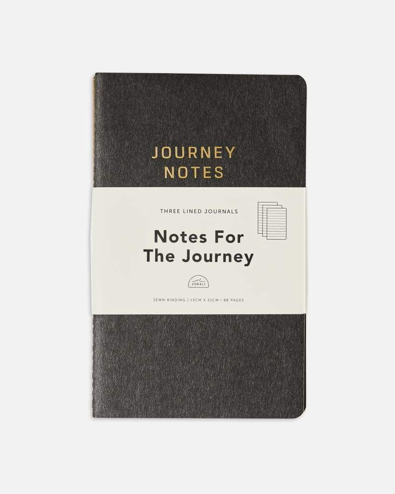 Lined Journey Notebook - Three Pack Accessories Zorali