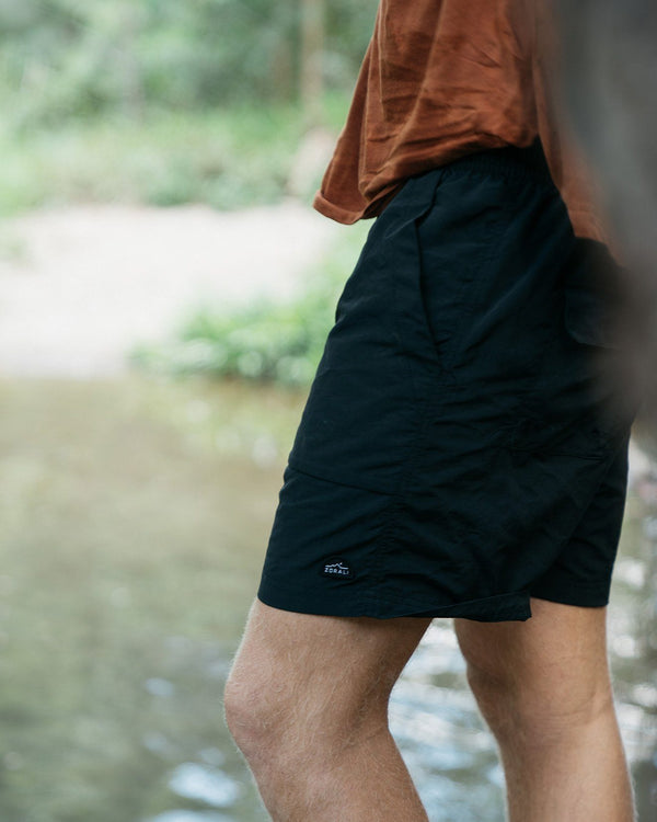 Recycled Venture Shorts Black Bottoms Zorali