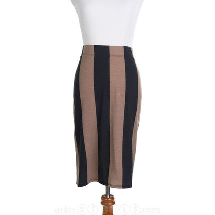 Vertical Stripe Pencil Skirt | Womens