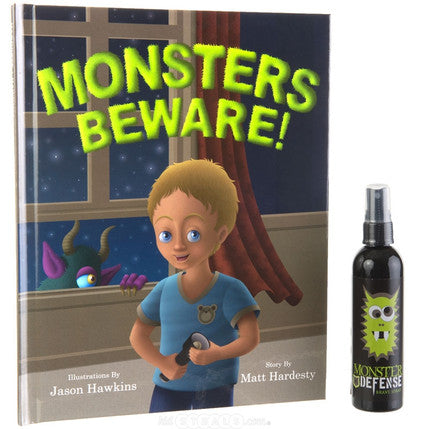Monsters Beware Book and Brave Spray Set