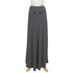 Extended Sizing Striped Maxi Skirt | Womens