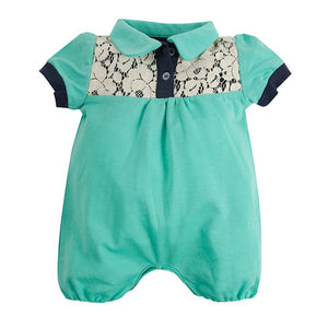 Romp & Circumstance Lace Collared Romper | Baby