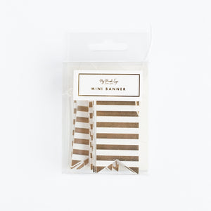 Fancy Tag Mini Banner - Stripes