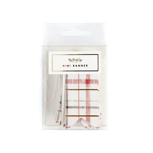 Holiday Tag Mini Banner -  Plaid