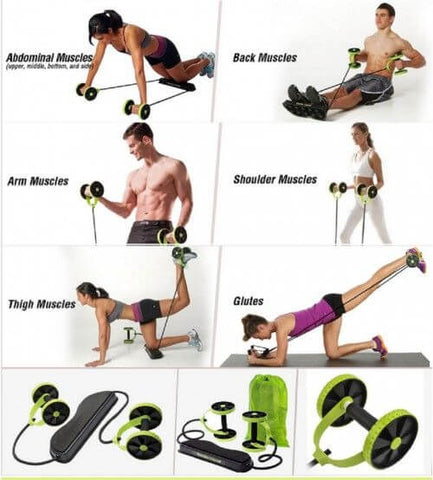 Revoflex Xtreme Abs Workout Kit Resistance Exercise