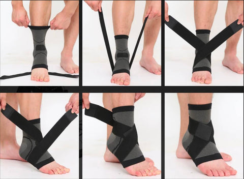 3D Weaving Technology Ankle Brace Protector Instructions