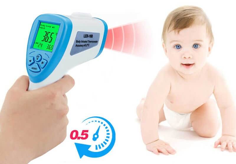Baby scan with digital thermometer