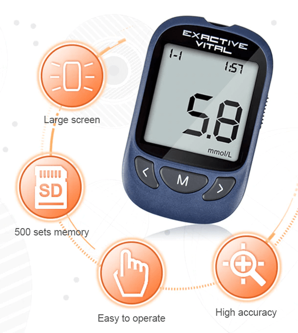 Blood Glucose Meter Device Set With 500 Sets Data Reviews