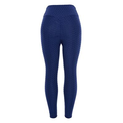 Women's Honeycomb Ruched Butt Lifting High Waist Yoga Pants