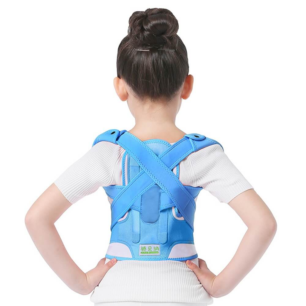 Adjustable Back Posture Corrector Blue