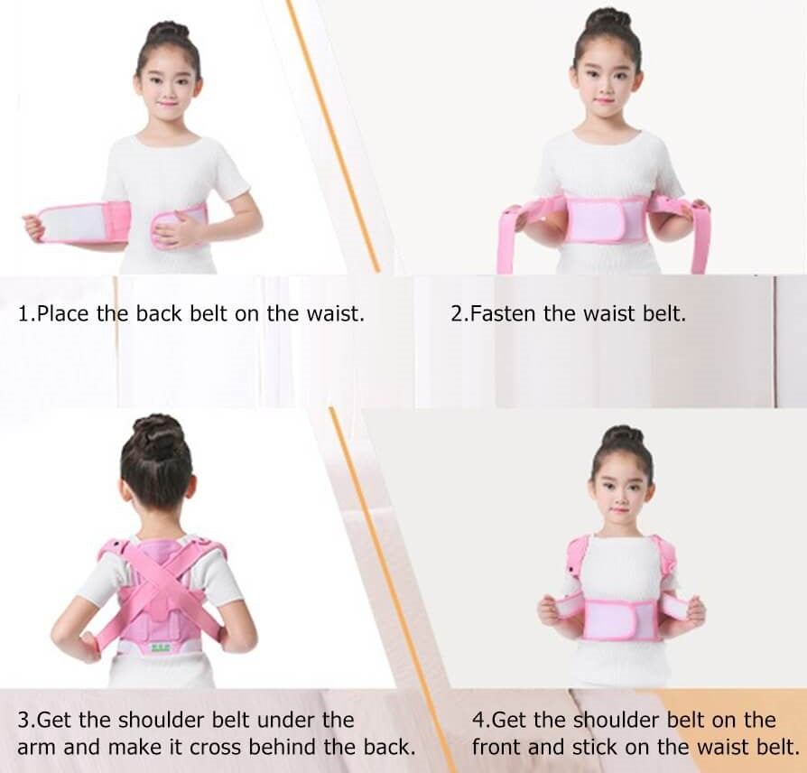 hOW TO WEAR Adjustable Back Posture Corrector