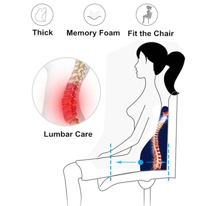How should you sit if you have lower back pain