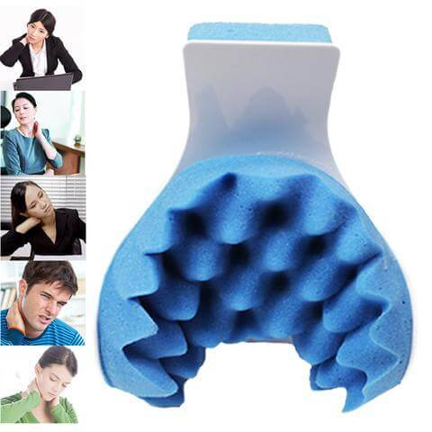 Cervical Pillow Neck Traction Device for Pain Relief Management And Cervical Spine Alignment