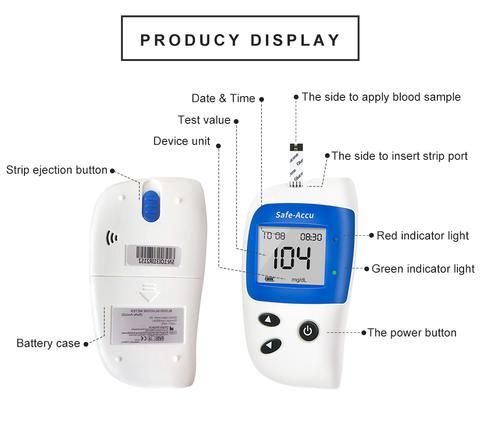 Glucometer with Test Strips Lancets Blood Sugar Monitor