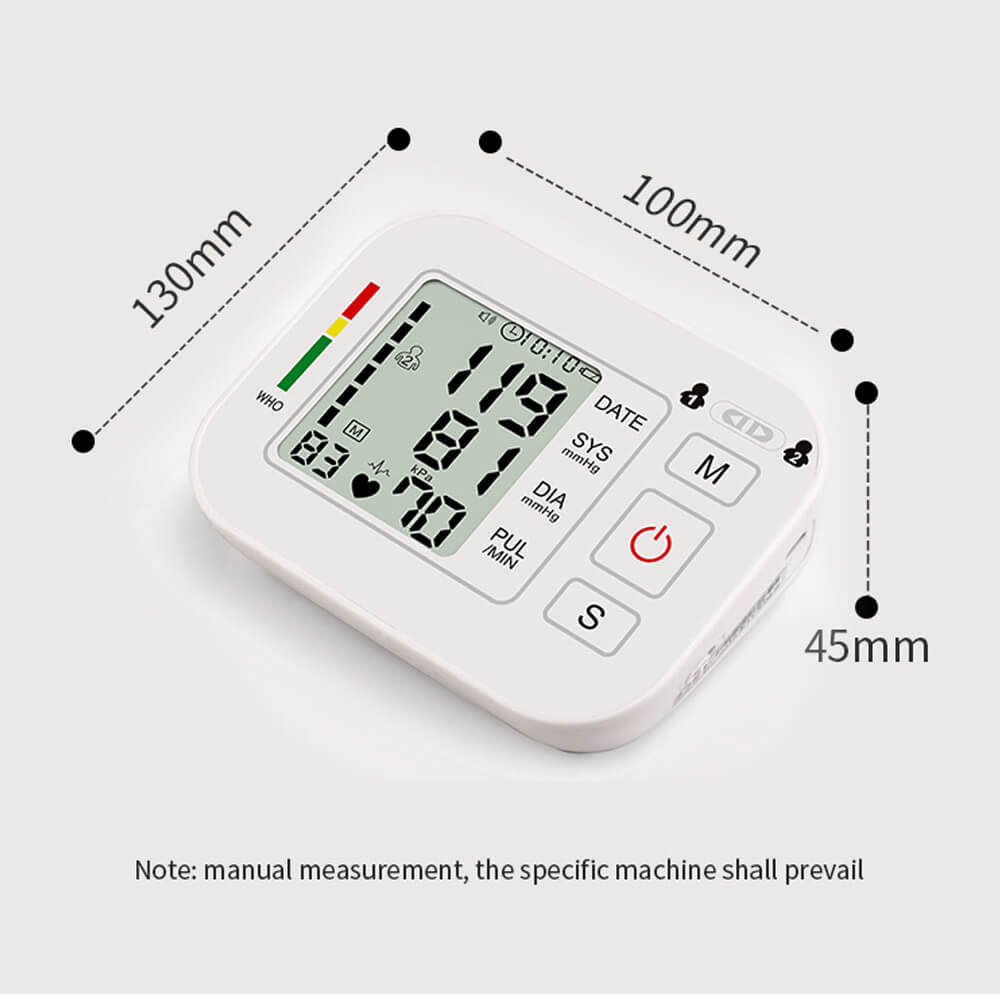 home blood pressure monitor size