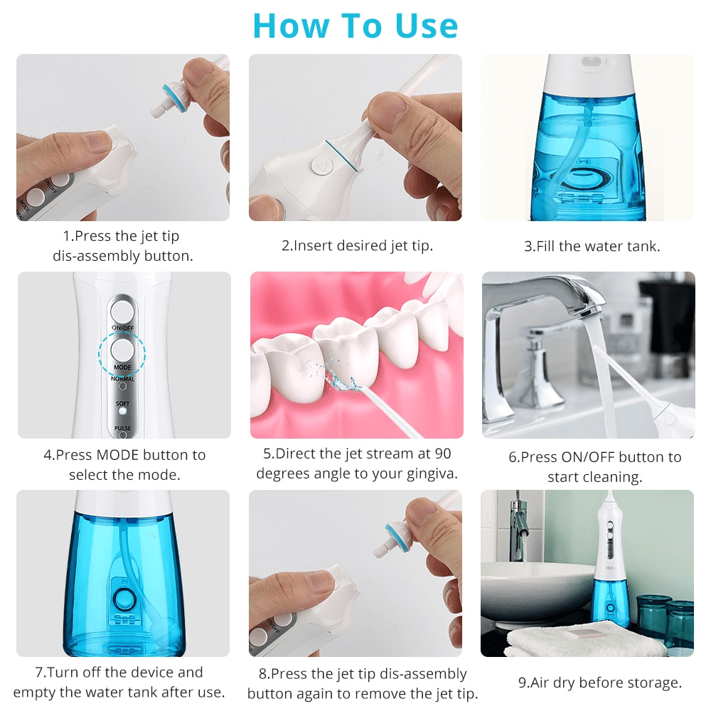 How To Use Oral Irrigator