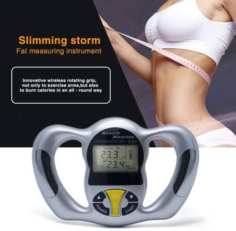 Health Monitor - Body Fat Analyzer Monitor BMI Meter Weight Loss Tester Calculator
