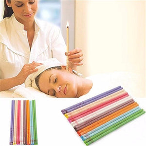 10PCS Pack Ear Candle SPA Therapy Straight Style Demo