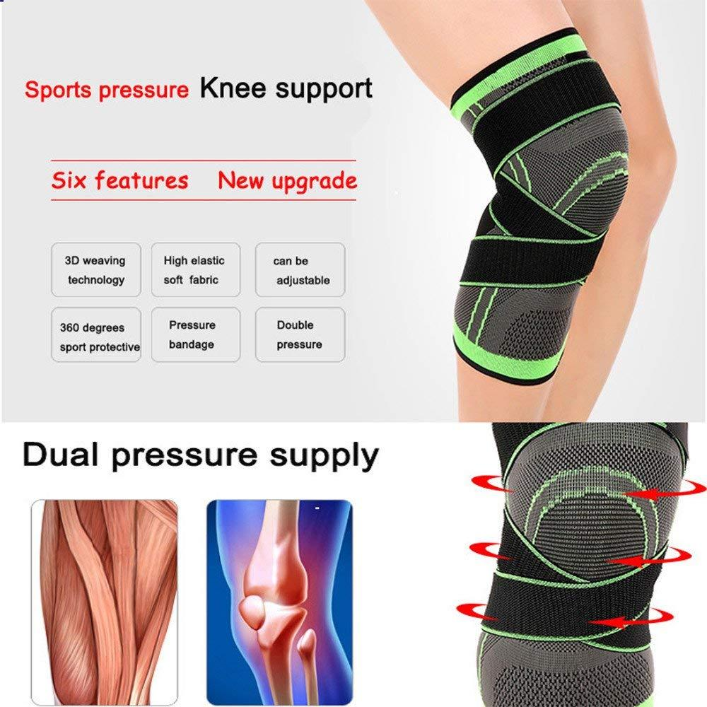 3D Pressurized Fitness Running Cycling Knee Support Braces