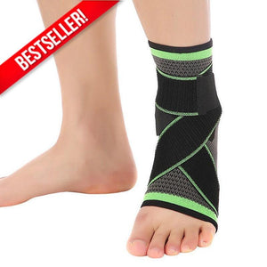 3D Weaving Technology Ankle Brace Protector Green