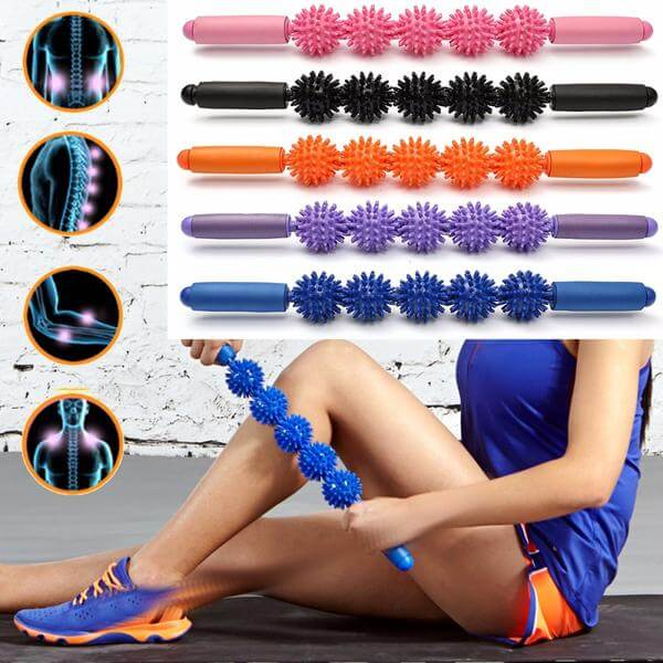 Spiky Roller Trigger Point Massage Ball Stick For Muscle Therapy