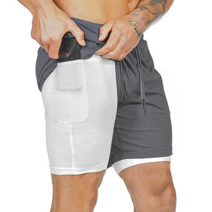Dark Gray Secure Pocket Fitness Shorts