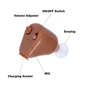Rechargeable Mini Adjustable Tone in Ear Digital Hearing Aids