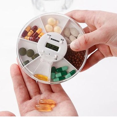 Weekly Pill Organizer, Large Electronic 7 Day Pill Box with 4 Alarm Reminders