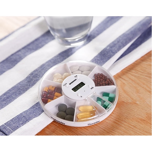 Tiny Pill Box And Pill Reminder Alarm