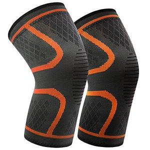 Orange Sport Stabilizing Knee Brace